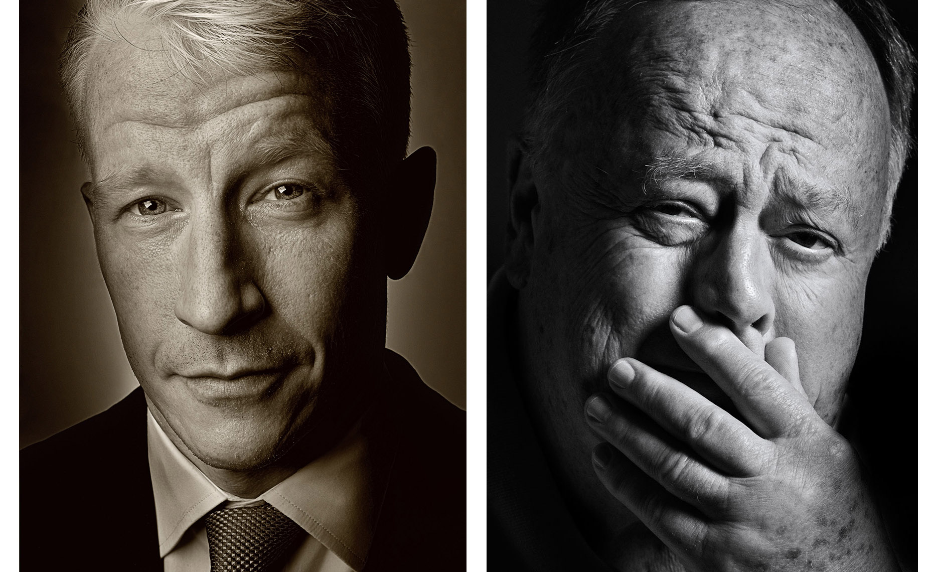 Portraits of Anderson Cooper and Max Cleland | Washington DC Photographer Aaron Clamage